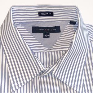 Tommy Hilfiger Blue Long Sleeve Dress Shirt Sz XL